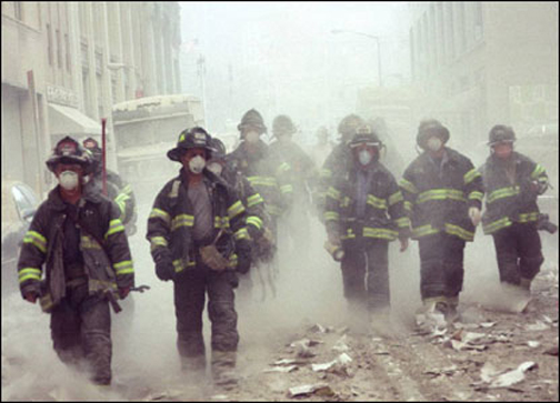 Firemen as first responders on 9/11.