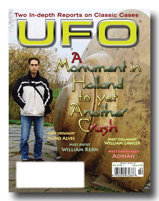 Cover of UFO Magazine 142.