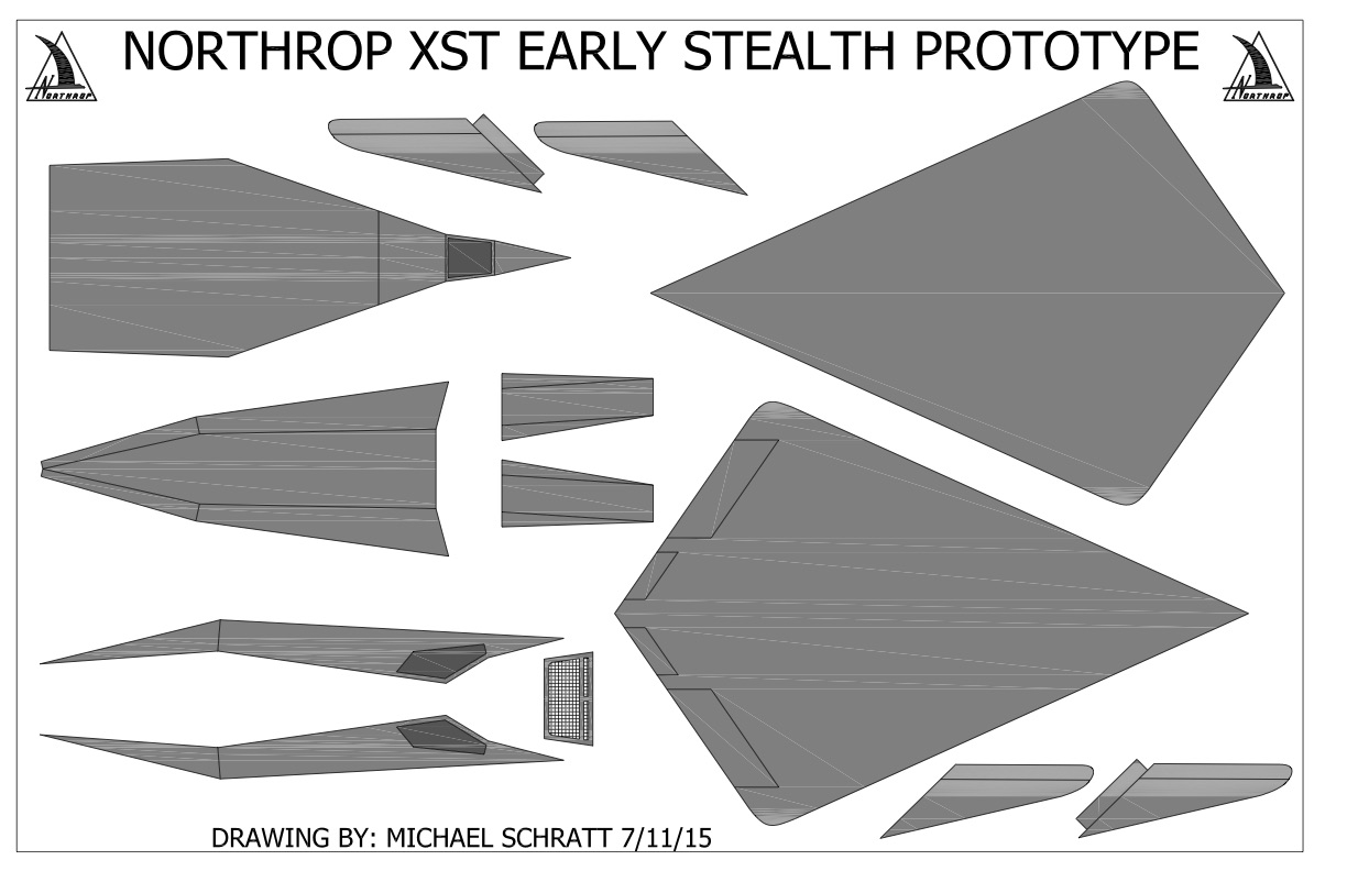 A nice set of drawings for building your own little Stealth aircraft.
