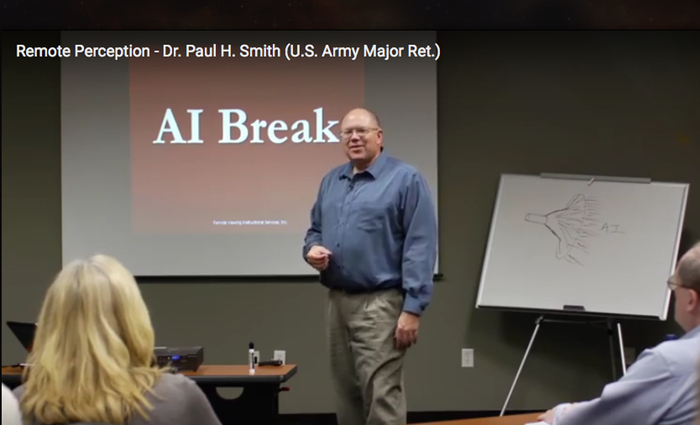 Paul H. Smith instructing a class in remote viewing.