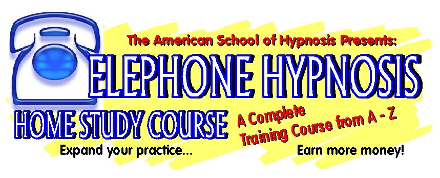 A graphic from the internet advertising telephone hypnosis.